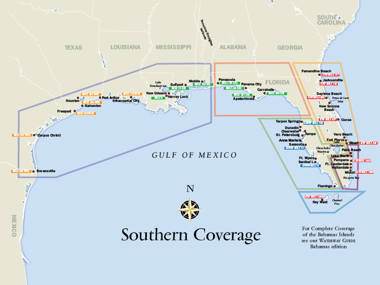 Map Of Southern Florida Gulf Side.About The Guides Waterway Guide
