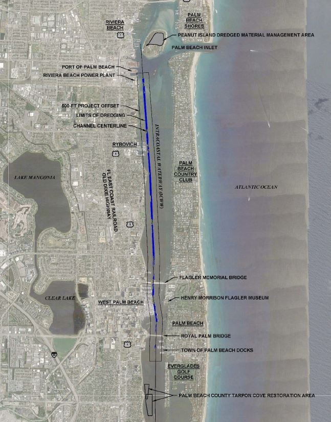 Dredging Project to Maintain The Intracoastal Waterway in Palm Beach