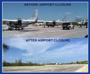 We need Staniel Cay Airport to be repaired and reopened