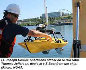 VIDEO: 'Drone' boats to measure shallow depths for NOAA charts