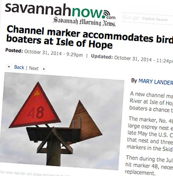 New day marker at Isle of Hope is osprey-friendly   Waterway