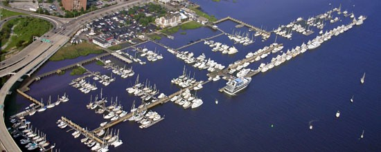 Aerial View of Charleston City Marina