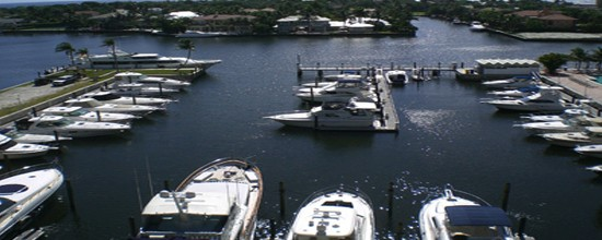 Aerial View of Delray Harbor Club Marina