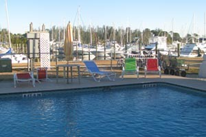 Facilities View of Harbortown Marina - Port Canaveral