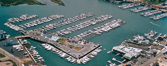 Aerial View of Schooner Island Marina