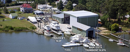 Aerial View of Tiffany Yachts Inc.