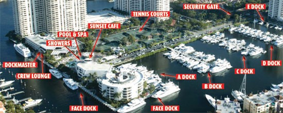 Aerial View of Turnberry Isle Marina Yacht Club